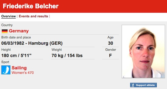 #13 Friederike Belcher funny olympic names