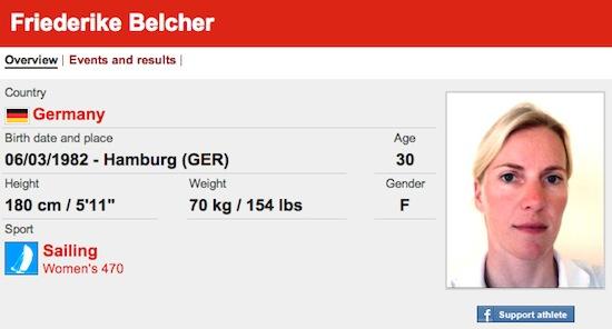 #13 Friederike Belcher funny olympic names