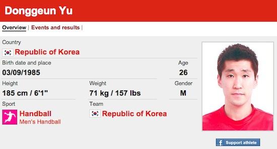 #14 Donggeun Yu funny olympic names