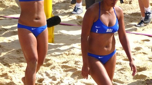 Hot sexy girls bikini beach