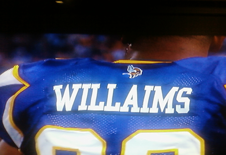 15 kevin williams misspelled jersey