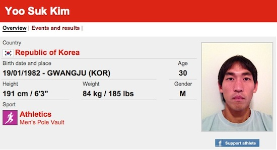 #16 Yoo Suk Him funny olympic names