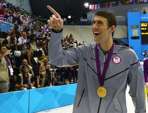 #18 michael phelps gold medal usa