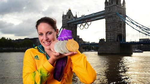 #19 Alicia Coutts olympic medals swimming australia