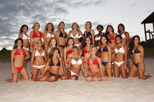 2 florida atlantic football cheerleaders