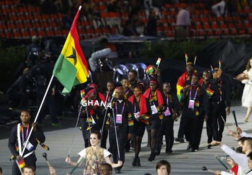 #22 ghana opening ceremony london 2012