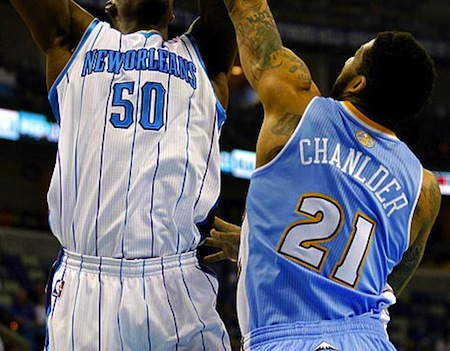 22 wilson chandler misspelled jersey