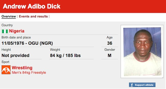 #23 Andrew Adibo Dick funny olympic names