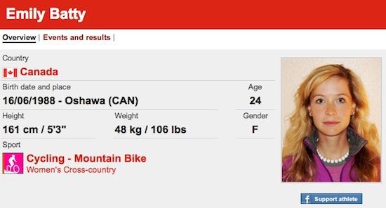 #25 Emily Batty funny olympic names