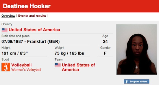 #3 Destinee Hooker funny olympic names
