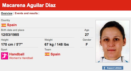 #37 Macarena Aguilar Diaz funny olympic names