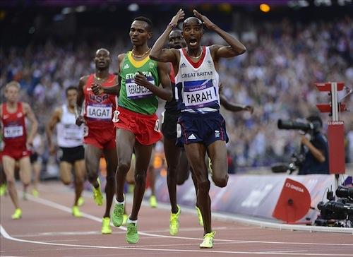 5 mo farah wins 10,000m