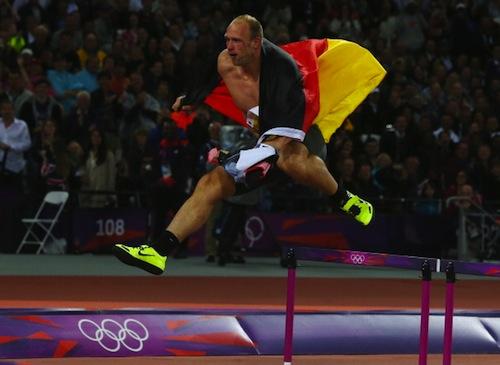 robert harting gold medal  celebration