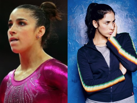 Aly Raisman Sarah Silverman Olympic Athlete Celebrity Look Alikes