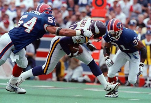 Chris Spielman tackles Chris Carter