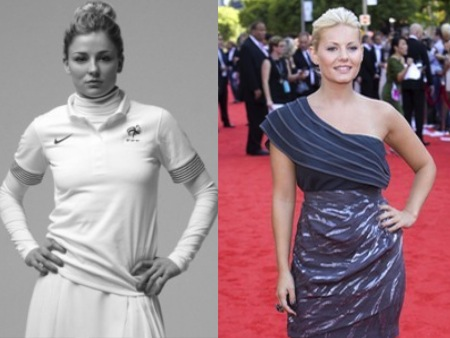 Laure Boulleau Elisha Cuthbert Olympic Athlete Celebrity Look Alikes