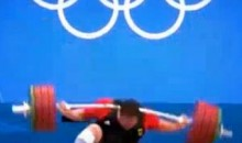 German Weightlifter Matthias Steiner Drops 432 Pounds On His Head At Olympics (GIF)