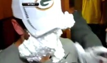 Aaron Rodgers Gets Shaving Cream Pie To The Face (Video)