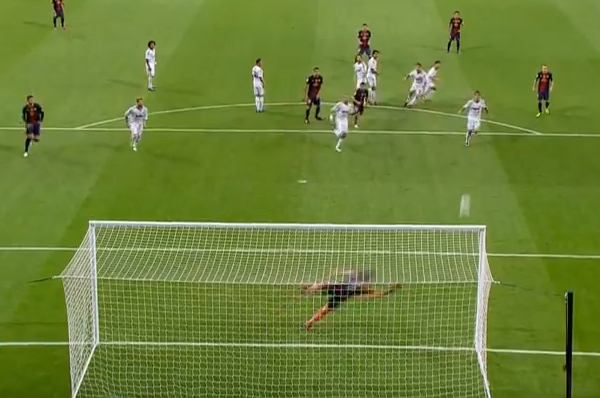 amazing messi goal supercopa supercup