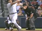 Carlos Lee Hit Umpire Joe West In The Head With His Bat (Video)