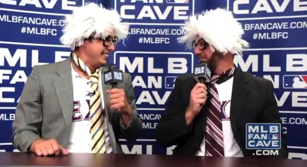 derek holland and ryan dempster do harry caray impersonations