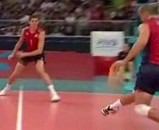 Yet Another Awesome Kick Save From Olympic Volleyball (Video)