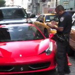 ferrari getting ticket