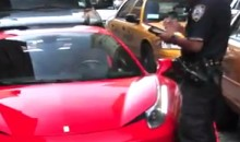 Apparently Cops Don't Like It When You Run Over Their Feet With Your Ferrari (Video)