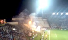 PAOK And Rapid Vienna Fans Engage In All-Out Flare Warfare Prior To Europe League Soccer Game (Video)