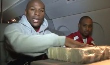 Watch Floyd Mayweather Jr. Count $1-Million Cash On His Private Jet After Getting Out Of Jail (Video)
