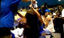 Girl Dumps Slushie On Another Girl At High School Football Game, Fight Ensues (Video)
