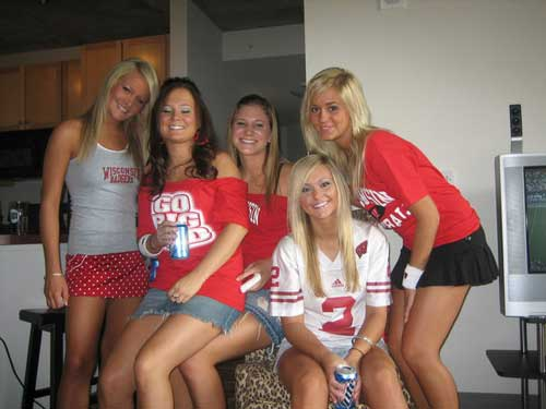 Chicks tailgate party Nude