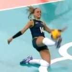 incredible volleyball play at the olympics