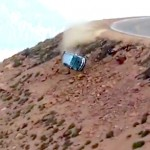 jeremy foley drives off cliff at pike peak race