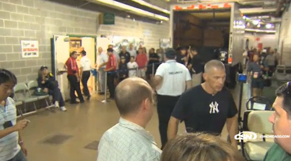 joe girardi yells at heckler during press conference