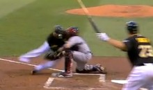 Check Out This Monster Home Plate Collision Between Yadier Molina and Josh Harrison (Video)