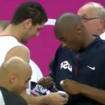 kobe bryant signs tunisian basketball player's shoe