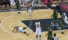 LeBron James Flops With 30-Point Lead Over Nigeria (Video)