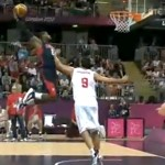 lebron posterizing tunisian basketball player olympics