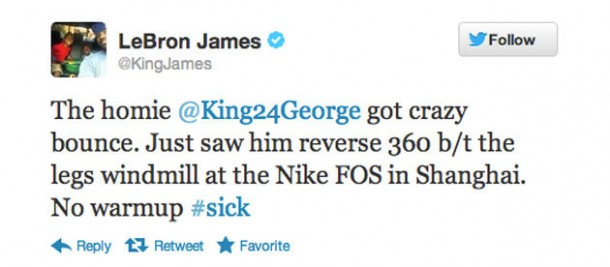 lebron tweet about paul george