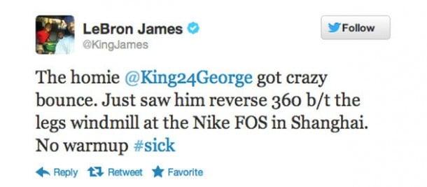 lebron tweet about paul george
