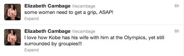 liz cambage tweet about kobe and stephanie rice
