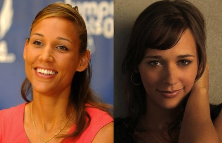 lolo jones rashida jones olympic athlete celebrity look-alikes