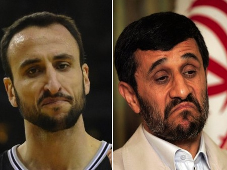 manu ginobili mahmour ahmadinejad olympic athlete celebrity look-alikes