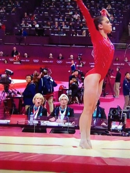 mckayla maroney perfect vault jaw drop judge