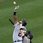 miguel cabrera reboud steals ball from catcher