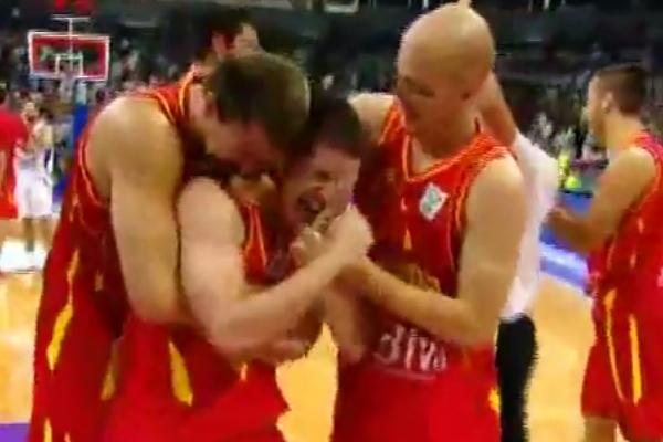 nikola ivanovic celebrating buzzer-beater