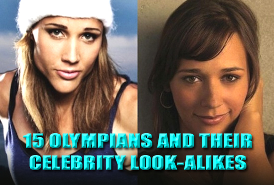 olympic athlete celebrity look alike