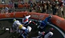 Olympics BMX Crash Wipes Out The Competition (Video)