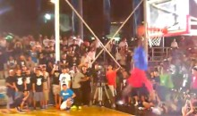Watch Paul George Throw Down A Wicked Through-The-Legs 360 Windmill Dunk (Video)